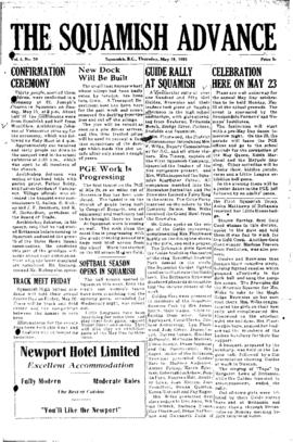 Squamish Advance: Thursday, May 19, 1955