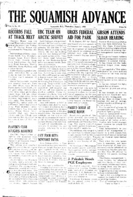Squamish Advance: Thursday, June 2, 1955