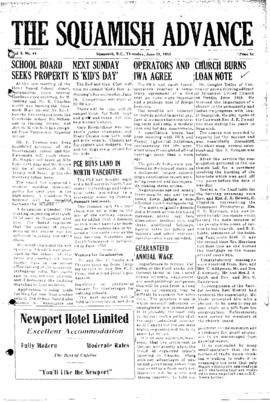 Squamish Advance: Thursday, June 23, 1955