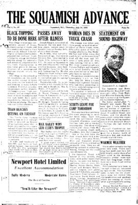Squamish Advance: Thursday, July 14, 1955