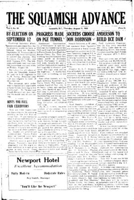 Squamish Advance: Thursday, August 11, 1955