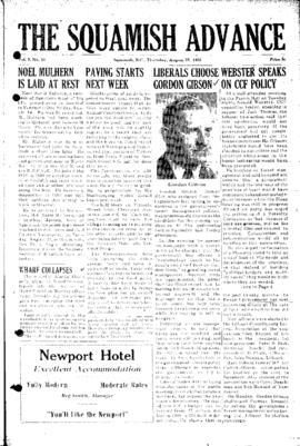 Squamish Advance: Thursday, August 25, 1955