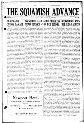 Squamish Advance: Thursday, October 27, 1955