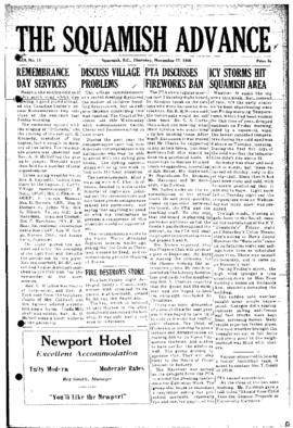 Squamish Advance: Thursday, November 17, 1955