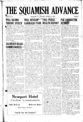 Squamish Advance: Thursday, January 12, 1956