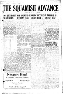 Squamish Advance: Thursday, January 5, 1956