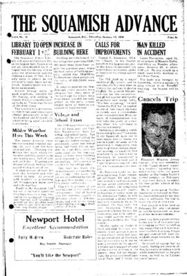 Squamish Advance: Thursday, January 19, 1956