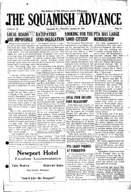 Squamish Advance: Thursday, January 26, 1956