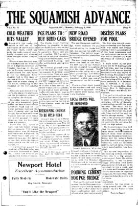 Squamish Advance: Thursday, February 2, 1956