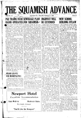 Squamish Advance: Thursday, February 9, 1956