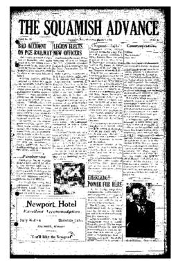 Squamish Advance: Thursday, March 8, 1956