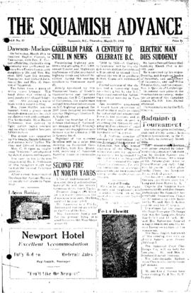 Squamish Advance: Thursday, March 22, 1956