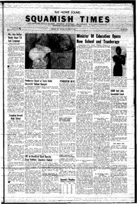 Squamish Advance: Thursday, November 14, 1957