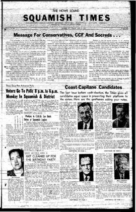 Squamish Times: Thursday, March 27, 1958