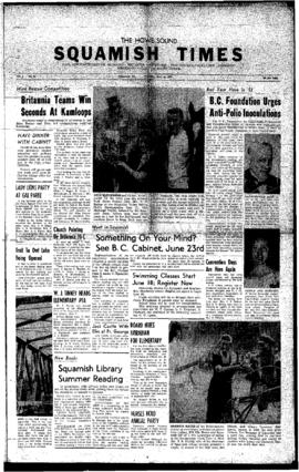 Squamish Times: Thursday, June 16, 1960