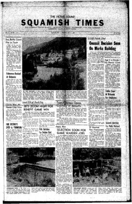 Squamish Times: Thursday, July 21, 1960