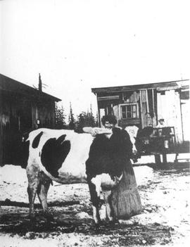 Mrs Peter Herres on the Herres Farm