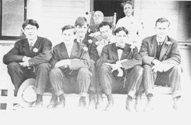 Group of young men in suits