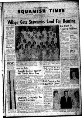 Squamish Times: Thursday, May 31, 1962