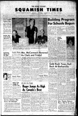 Squamish Times: Thursday, August 9, 1962