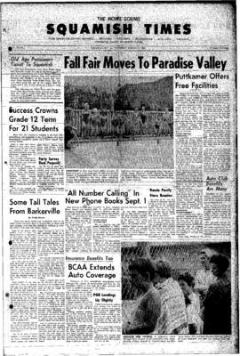 Squamish Times: Thursday, August 23, 1962
