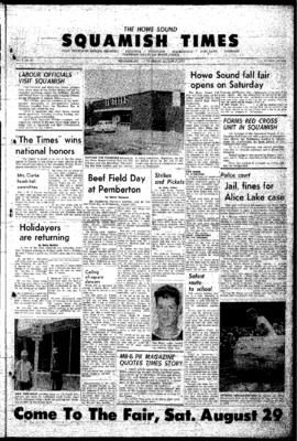 Squamish Times: Thursday, August 27, 1964