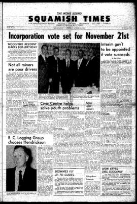 Squamish Times: Thursday, October 29, 1964