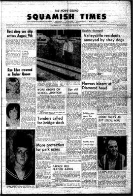 Squamish Times: Thursday, July 29, 1965