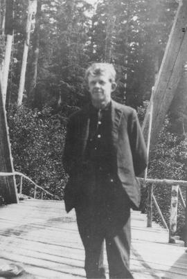 Walter Magee on Cheakamus Bridge