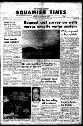 Squamish Times: Thursday, January 19, 1967