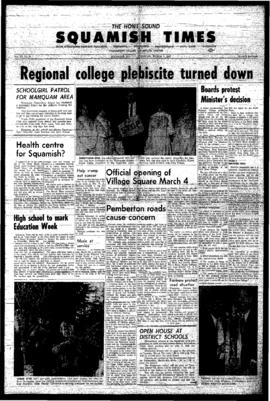 Squamish Times: Thursday, March 2, 1967