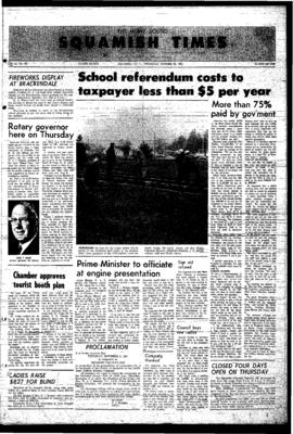 Squamish Times: Thursday, October 26, 1967