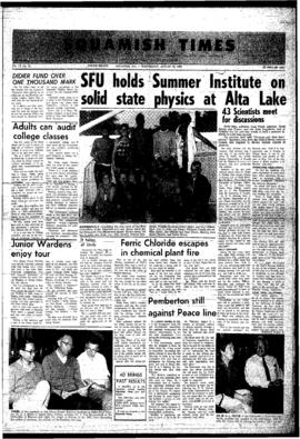 Squamish Times: Wednesday, August 21, 1968
