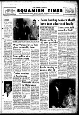 Squamish Times: Wednesday, October 9, 1968
