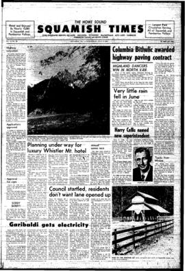 Squamish Times: Wednesday, July 9, 1969