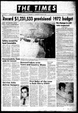 Squamish Times: Wednesday, January 5, 1972