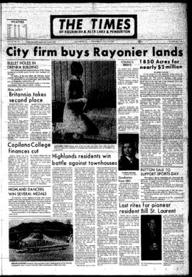 Squamish Times: Wednesday, May 31, 1972