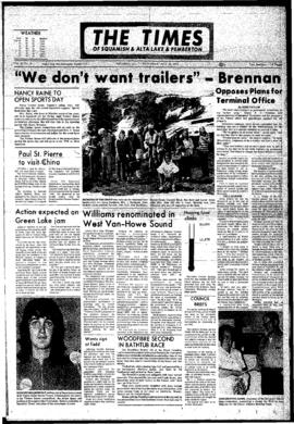 Squamish Times: Wednesday, July 26, 1972