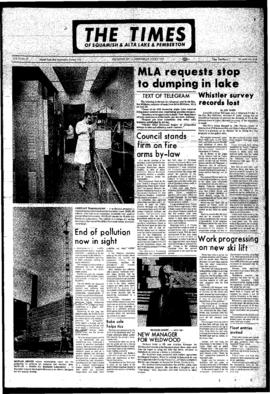 Squamish Times: Wednesday, July 5, 1972