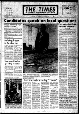 Squamish Times: Wednesday, August 23, 1972