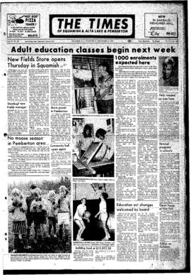 Squamish Times: Wednesday, September 27, 1972