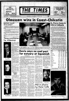 Squamish Times: Wednesday, November 1, 1972