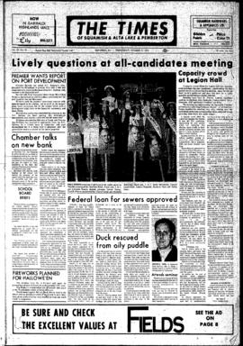 Squamish Times: Wednesday, October 25, 1972