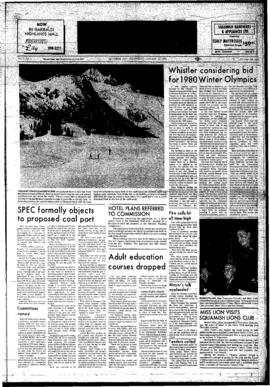 Squamish Times: Wednesday, January 24, 1973