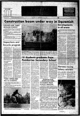 Squamish Times: Wednesday, June 6, 1973