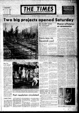 Squamish Times: Wednesday, July 18, 1973