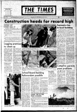 Squamish Times: Wednesday, August 22, 1973