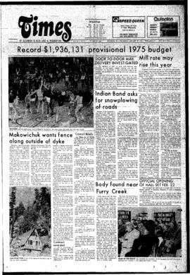 Squamish Times: Thursday, January 30, 1975