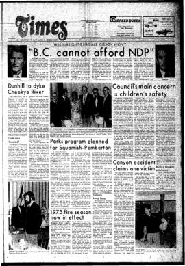 Squamish Times: Thursday, May 15, 1975