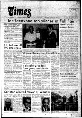 Squamish Times: Thursday, September 11, 1975